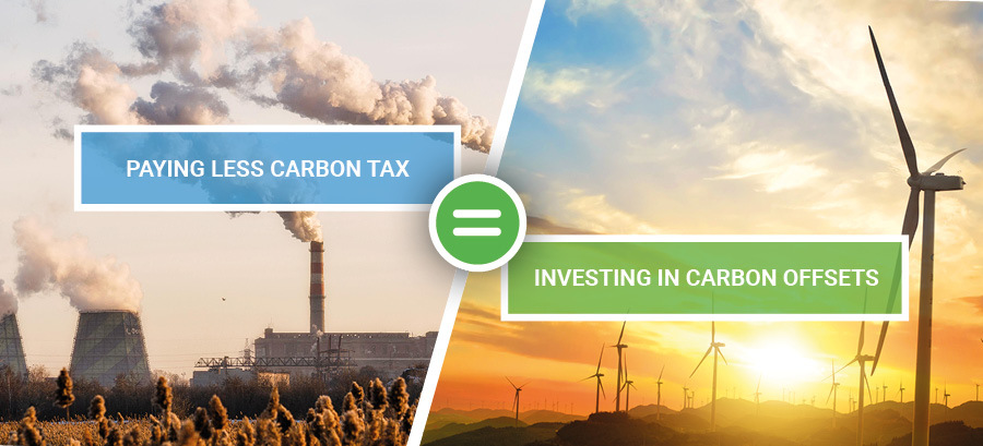 Paying less carbon tax = investing in carbon offsets